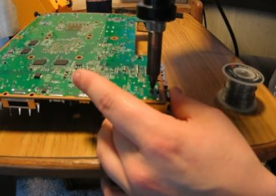 laptop hardware repair in progress
